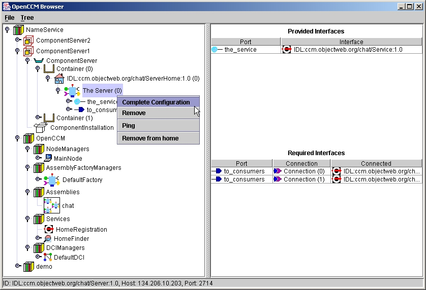 The OpenCCM Management Console