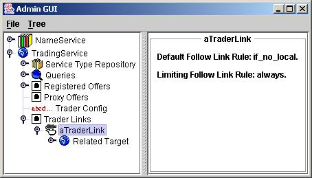 A Trader link in the OpenCCM console